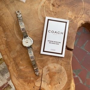 Coach Stainless Steel Watch Mother of Pearl Face